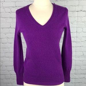 100% Cashmere V-Neck Sweater Halogen Nordstrom